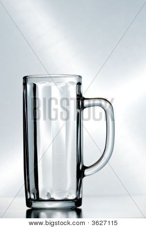 An Empty Beer Glass