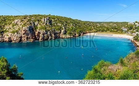 Cala En Porter Beach, One Of The Best Resort Beaches On Menorca, Spain