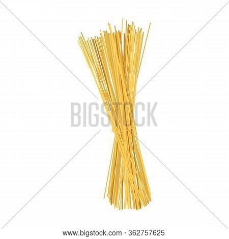 Italian Wheat Spaghetti Bundle Icon Realistic Vector Illustration Isolated.