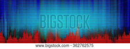 Background Of Glitch Manipulations. Stock Vector Illustration.