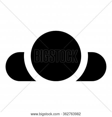 Man Lying On Back View Head Shoulders Icon Black Color Vector Illustration Flat Style Simple Image