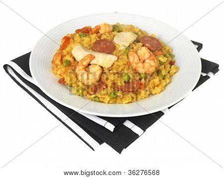 Chicken and Prawn Paella