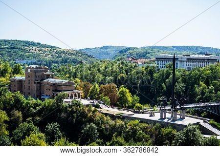Veliko Tarnovo, Bulgaria - August 31, 2019: The State Art Gallery Boris Denev And The Asenevtsi Monu