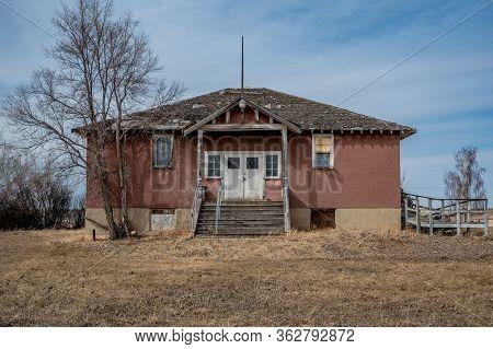 The Abandoned Shamrock School In Shamrock, Saskatchewan, Canada