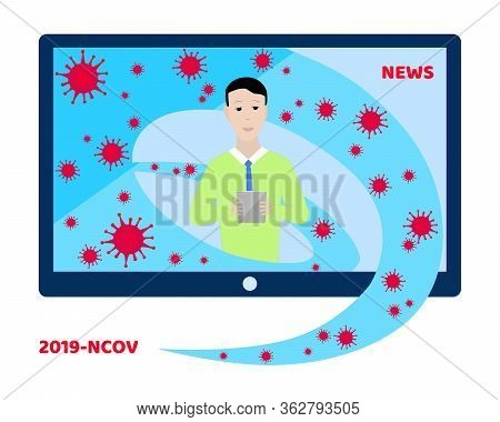 Background Screen Saver On Breaking News. News Of The Coronavirus Epidemic Worldwide. Breaking News