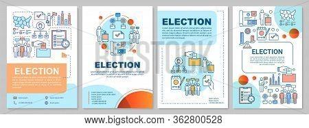 Election Brochure Template Layout. Citizens Ballot. Holding Voting. Flyer, Booklet, Leaflet Print De