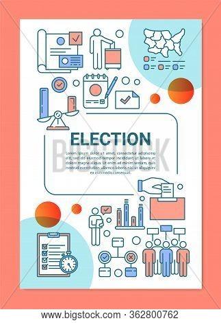 Election Brochure Template Layout. Citizens Ballot. Voter Turnout. Flyer, Booklet, Leaflet Print Des