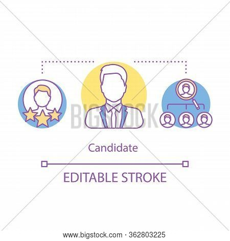 Elections Concept Icon. President, Politician Candidate Idea Thin Line Illustration. Candidate Sourc