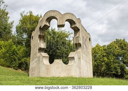 Sculptures By Henry Moore And Eduardo Chillida, Park Of The Peoples Of Europe.