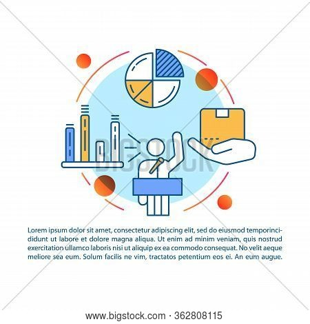 Sales Pitch Article Page Vector Template. Product Presentation Event. Corporate Training. Brochure,