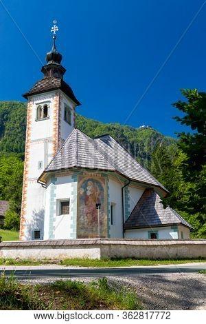 church Sveti Duh near Bohinj lake in Slovenia