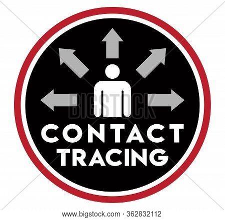 Contact Tracing Icon | Logo To Promote Health Education | Coronavirus Tracking | Pandemic Awareness