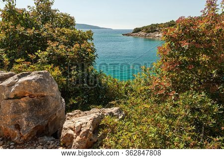Coves Near Ustrine On A Sunny Day In Spring On The Island Of Cres (croatia)