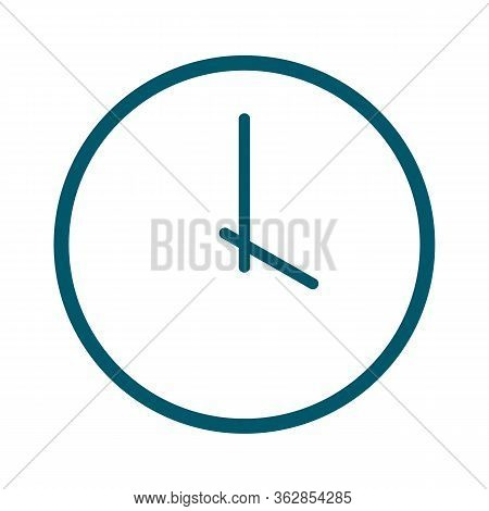 Clock Logo Icon Isolated. Watch Object, Time Office Symbol. Clock Flat Icon. Time Logo. Watch Logo,