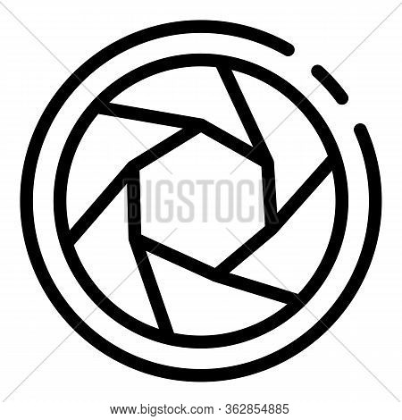 Camera Shutter Icon. Outline Camera Shutter Vector Icon For Web Design Isolated On White Background