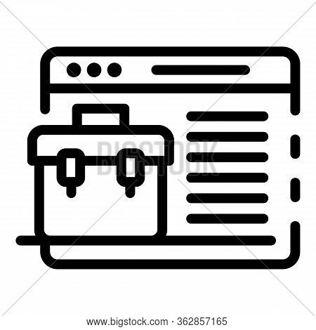 Application Window Portfolio Icon. Outline Application Window Portfolio Vector Icon For Web Design I