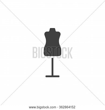 Sewing Mannequin Vector Icon. Filled Flat Sign For Mobile Concept And Web Design. Atelier Mannequin