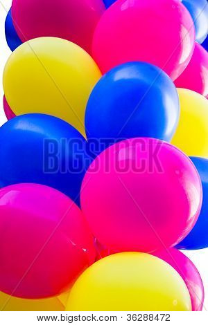 Bunch Of Colorful Festive Balloons