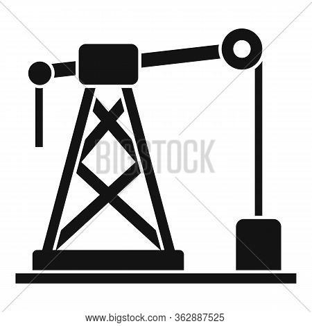 Gas Derrick Icon. Simple Illustration Of Gas Derrick Vector Icon For Web Design Isolated On White Ba