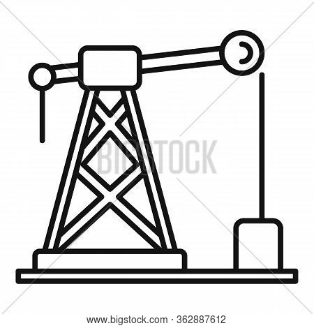 Gas Derrick Icon. Outline Gas Derrick Vector Icon For Web Design Isolated On White Background