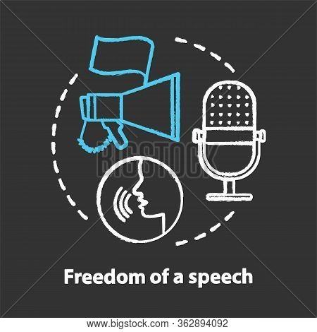 Elections Chalk Concept Icon. Propaganda Spreading. Freedom Of Speech Idea. Expressing Opinions, Tho