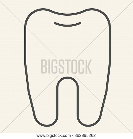 Tooth Thin Line Icon. Dentistry Or Stomatology Logo Outline Style Pictogram On White Background. Hea