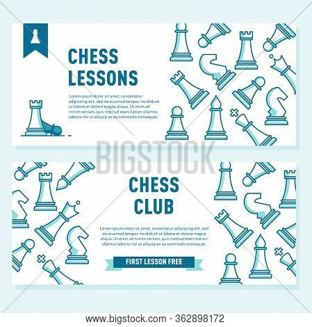 Chess Club Flyer Template. Chess Lessons Concept.template For Chess Club Or Chess School.