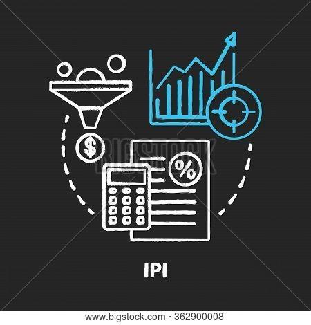 Ipi Chalk Concept Icon. Industrial Production Index Idea. Economic Manufacture Indicator. Manufactur