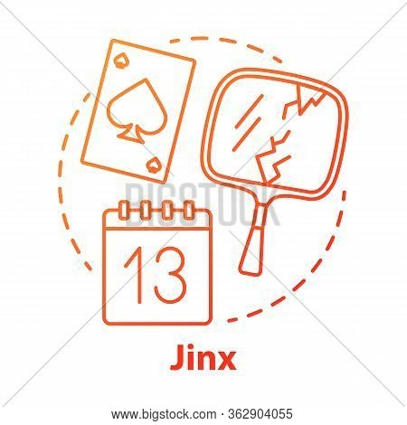 Jinx Concept Icon. Magic And Superstition Idea Thin Line Illustration. Bad Luck, Misfortune Omen, Pa