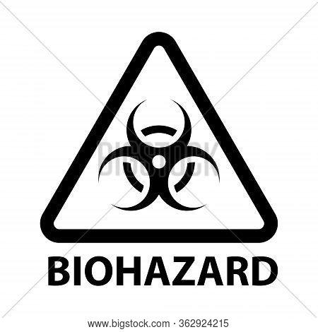 The Biohazard Or Biological Threat Alert Icon. Warning Sign Of Virus. Danger Coronavirus Bio Hazard