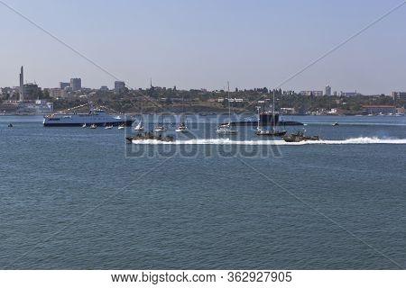 Sevastopol, Crimea, Russia - July 28, 2019: Raptor Landing Boats At The Celebration Of Navy Day In T