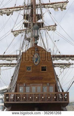 Valencia, Spain - 26 September 2012: Replica Of The Spanish Galleon