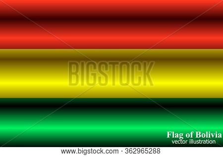 Bright Background With Flag Of Bolivia. Happy Bolivia Day Background. Bright Button.
