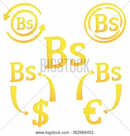 3d Bolivian Peso Currency Of Bolivia Symbol Icon Vector Illustration On A White Background