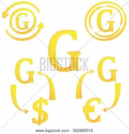 3d Haitian Gourde Currency Symbol Icon Of Haiti Vector Illustration On A White Background