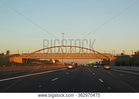 Tucson, Arizona - October 04: Highway Underpass On South Interstate 10 Traffic October 4, 2013 In Tu