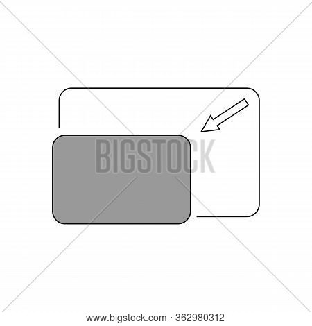 The Full Screen Icon. Arrows Symbol. Flat Vector Illustration.