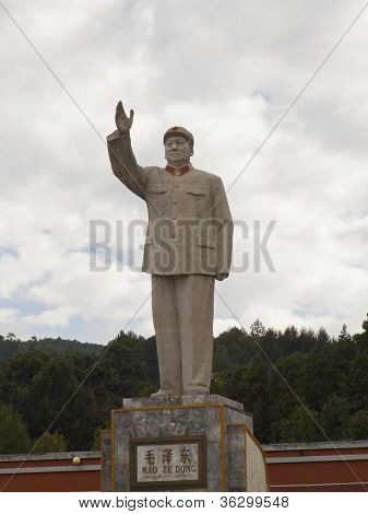 Statue Of Mao Ze Dong - In The Town Of Lijiang