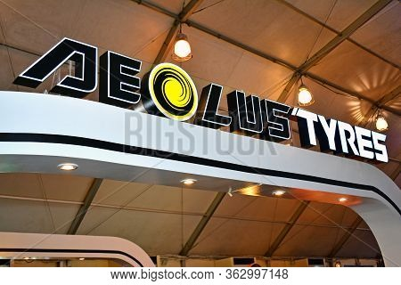 Pasay, Ph - April 7 - Aeolus Tyres Sign At Manila International Auto Show On April 7, 2018 In Pasay,