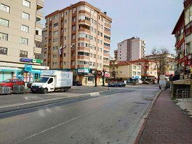 Istanbul - Apr 19, 2020: Coronavirus: Empty Streets As Turkey Braces For Nationwide Lockdown. People