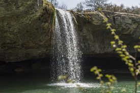 Waterfall Zarecki Krov In Springtime, Istria, Croatia