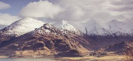 View Over Loch Duich & The Five Sisters Of Kintail In The Highlands Of Scotland