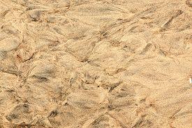 Closeup Of Sand Pattern Of A Beach, Beautiful Sand Beach
