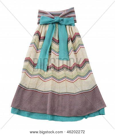 Knitted Pleated Strapless Dress