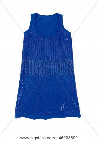 Blue Sequins Short Dress