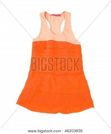 Sleeveless Orange Minidress