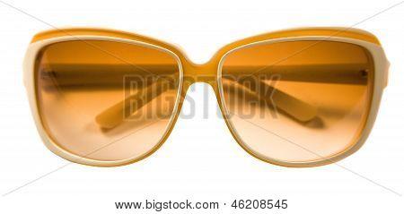 Bicolor Rimmed Yellow White Sunglasses