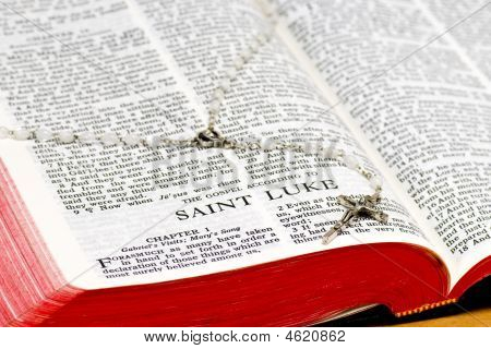 Rosary Bible Page - Saint Luke