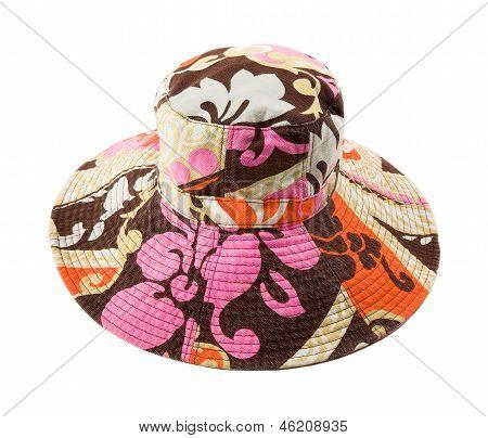 Flowery Multicolor Pattern Floppy Hat