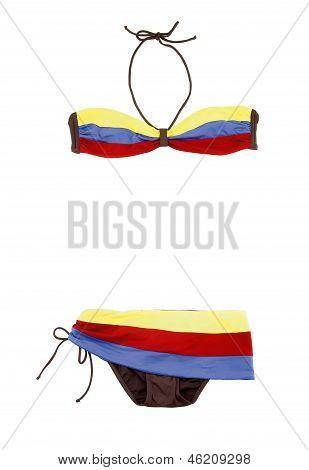 Color Bands Bandeau Bikini